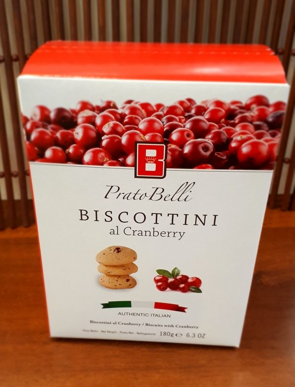 Biscottini al Cranberry 180g Box